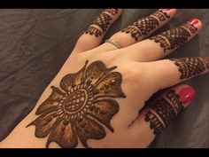 Super easy simple and beautiful goltikki mehndi design... - YouTube