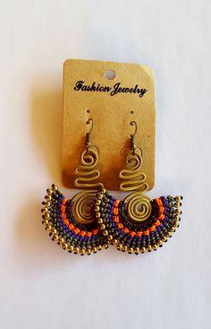 Macrame Earrings by WearietyBySom on Etsy Macrame Earrings, Macrame Jewelry, Beaded Earrings, Earrings Handmade, Crochet Earrings, Macrame Knots, Bead Jewellery, Jewelery, Micro Macramé