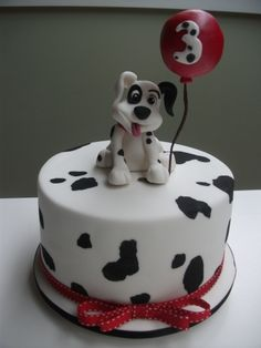 Birthday Dalmatian dog By sayersl on CakeCentral.com
