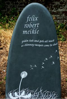 Hand carved slate memorial                                                                                                                                                                                 More