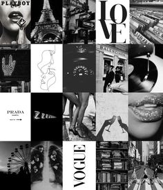 Black And White Picture Wall, Black And White Wallpaper, Black And White Pictures, Black White, Bedroom Wall Collage, Photo Wall Collage, Picture Collages, White Walls, Black Walls