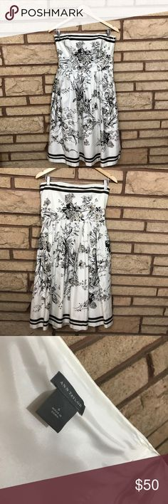 Gorgeous Ann Taylor Dress 🌑Beautiful strapless Dress with built in bra for support       🌘In like new condition   🌗Material: n/a 🌖Dimensions: 14in waist, 25in waist to end & 16 across top 🌕Offers Welcome 🌔Fast shipping 🌓Sorry, no trades 🌒Bundle and save 30% off two or more items 🌑Free gift with every purchase Ann Taylor Dresses Strapless