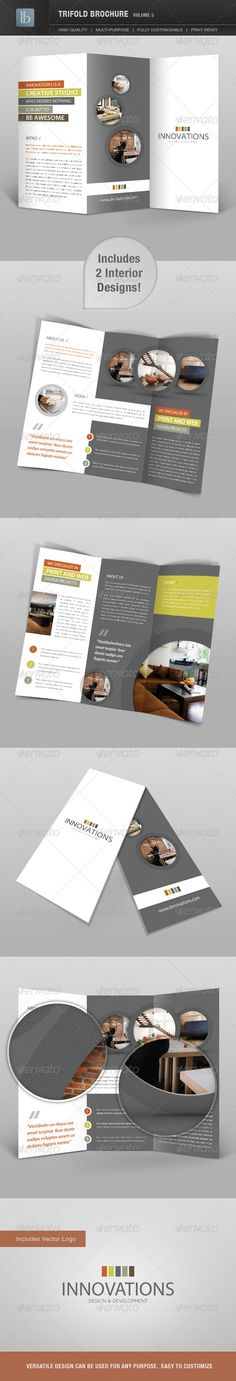 Trifold Brochure | Volume 5 #GraphicRiver Trifold Brochure | Volume 5 Clean and