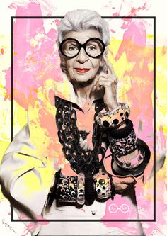 Iris Apfel Collage Giclee fashion Nueva York por SoulArtCorner