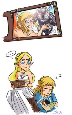 zelink to heal the soul ᵔᴥᵔ<<< I take pictures like that for fun. Zelda would be horrified if she saw them all.