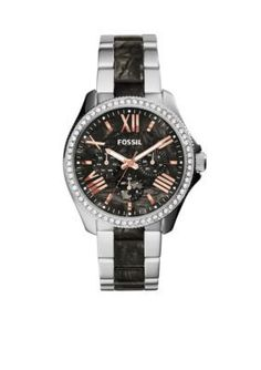 Fossil  Womens Cecile Dark Pearl Acetate and Stainless Steel Multifunction Watch