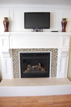 Paisley Patchwork: 70's Fireplace Remodel