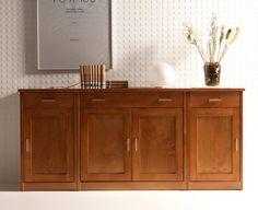 Aparador de comedor de 3 o 4 puertas de madera o de cristal