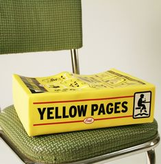 Yellow Pages Booster Seat.Until I moved to ND. **I remember, when we'd go visiting,and having to use a Phone Book as a booster seat to reach the table**
