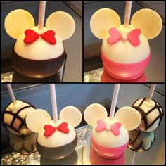 Minnie and Mickey Mouse Cake Pops