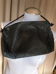 8a5809b083b6 Fendi vintage logo print leather trim canvas hand bag  Fendi  handbag   versatile