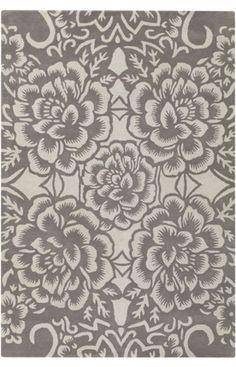 Chandra Floral Light Grey Rug