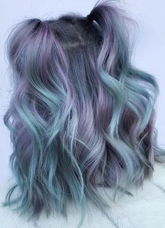 31 Ideas for perfect hair color and hairstyle design - purple, # hair color # ideas # hairstyle design . - 31 Ideas for perfect purple hair color and hairstyle design -, colour # ideas # hairstyle de - Lavender Hair Colors, Hair Color Purple, Hair Dye Colors, Cool Hair Color, Pastel Ombre Hair, Hair Color Ideas, Hair Ideas, Ombre Hair Lavender, Pastel Hair Colors