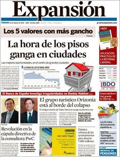 Los Titulares y Portadas de Noticias Destacadas Españolas del 16 de Febrero de 2013 del Diario Expansión ¿Que le parecio esta Portada de este Diario Español?