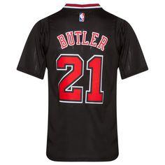 f93626e8b0b Chicago Bulls Men's Black Jimmy Butler Swingman Sleeve Jersey by Adidas # Chicago #Bulls #