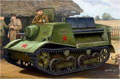 1938. T-20 Komsomolets armored artillery tractor.