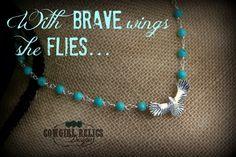 Western NecklaceSilver Eagle Turquoise by cowgirlrelicsdesigns