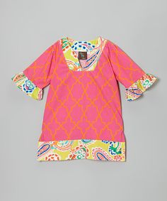 Take a look at this Hot Pink Moroccan Tunic - Toddler & Girls by Haley and the Hound on #zulily today!