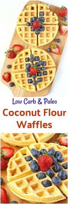 Coconut Flour Waffles [Paleo] - These Coconut Flour Waffles are waffle perfection – fluffy and soft yet slightly crispy on the outside. Made with coconut flour, these waffles are gluten-free, paleo and dairy-free.