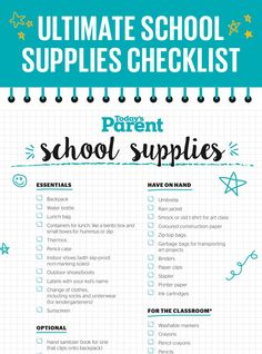 Have you gone back to school shopping yet? We've got your ULTIMATE school supplies checklist, from the essentials to the nice-to-have items to have the best school year yet.