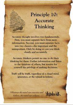 Think and Grow Rich - Napolean Hill - Principle 10 - Accurate Thinking