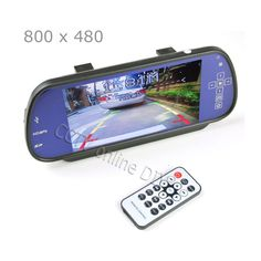 """100% New Car 7 inch 7""""  TFT LCD Rear View Mirror MP5 SD Card USB Monitor 2CH Video Input Touch Button Free Shipping"""
