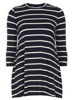 Navy Stripe Jersey Tunic - Dorothy Perkins
