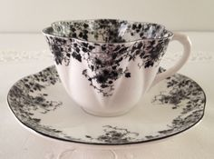 Very Rare Shelley Dainty Black Tea Cup & Saucer  by TheEclecticAvenue on Etsy https://www.etsy.com/listing/234119628/very-rare-shelley-dainty-black-tea-cup