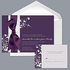 invitations... love the purple
