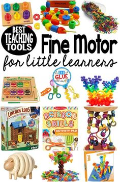 Best Fine Motor Teaching Tools for Little Learners Fine motor work is one skill will serve as the foundation for handwriting. Here are the best fine motor teaching tools for your little learners. Montessori Toys, Toddler Preschool, Toddler Toys, Preschool Activities, Preschool Kindergarten, Toddler Learning Toys, Educational Activities, Educational Toys For Preschoolers, Nursery Activities
