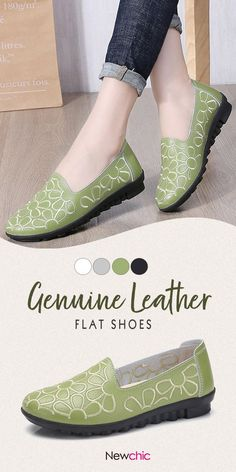 b97748dd1107 Women Casual Flowers Round Toe Genuine Leather Flats is cheap and  comfortable. There are other cheap women flats and loafers online.