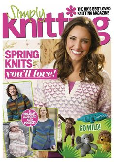 "Photo from album ""Simply Knitting on Yandex. Vogue Knitting, Knitting Books, Vintage Knitting, Knitting Patterns Free, Free Knitting, Baby Knitting, Simply Knitting, Knitting For Kids, Knitting Magazine"