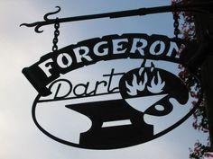 """*Enseigne """"Forgeron"""",  Villefranche de Conflent, France*"""