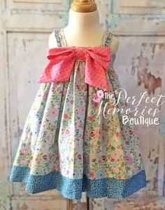 Spring Dress, Toddler Girl, Big Bows