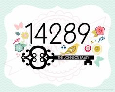 Personalized Home Address & Family Name Wall Art - 8x10 Printable