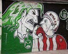 Eternal Enemies - Football in Athens Pat Jennings, Sports Clubs, Image Sharing, Spiderman, Graffiti, Alternative, Joker, Superhero, Fictional Characters