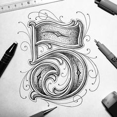 Numeral love. Type by @typo_steve | #typegang if you would like to be featured | typegang.com