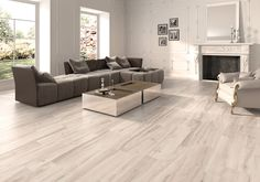 Living Roon, Cozy Living Rooms, Living Room Decor, Wooden Floors Living Room, Bedroom Flooring, Modern Flooring, Luxury Vinyl Flooring, Wood Look Tile Floor, Home Goods Decor
