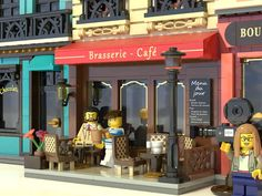 Lego Movie Sets, Big Lego, Lego Modular, Great Backgrounds, Cafe Menu, Lego House, Lego Projects, Lego Moc, Lego Building