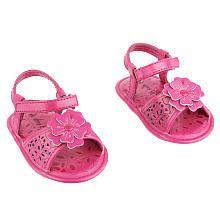 amy coe Girls' Soft Sole Flower Sandal