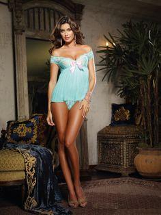 Tiffany Jades Lingerie - Dreamgirl Pleated Aqua Babydoll, £34.99 (http://www.tiffanyjadeslingerie.com/dreamgirl-pleated-aqua-babydoll/)