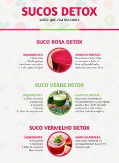 Receitas de sucos detox rosa, suco detox verde e vermelho para emagrecer e melhorar a saúde.  Quer aprender como usar as receitas detox para emagrecer de 4 a 7 kg em apenas 14 dias, veja: http://emagrecercomdetox.com/Emagrecer4a7kg