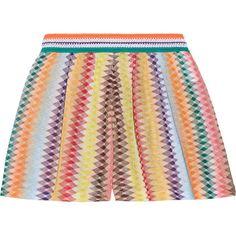 Missoni Mare Rhombus metallic crochet-knit shorts ($485) ❤ liked on Polyvore featuring shorts, orange, colorful shorts, elastic waist shorts, loose fitting shorts, crochet knit shorts and missoni shorts