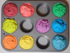 Play w/shaving cream   http://www.apartmenttherapy.com/play-with-shaving-cream-what-to-do-this-weekend-182824#