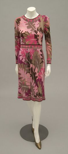 1970, Italy - Dress by Emilio Pucci - Printed silk/rayon jersey