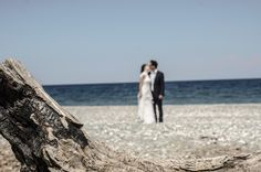 Couple kissng on beach!