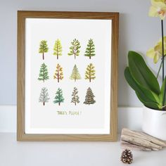 Modern, minimalist, and rustic, this print will fit perfectly with most decor themes, and looks great in a rustic wooden frame.