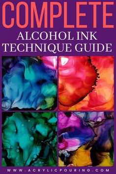 Alcohol inks are bold, versatile and a lot of fun to work with! There are so many ways you can incorporate alcohol ink into your work to create abstract and realistic pieces. In this guide, we'll discuss different techniques you can use with alcohol ink and the basic materials you'll need for each. We'll also give you a simple-to-follow step-by-step breakdown of each process so you can jump right in.  #acrylicpouring #techniqueguide #pouringguide #alcoholink #fluidart #fluipainting Alcohol Ink Glass, Alcohol Ink Crafts, Alcohol Ink Painting, Alcohol Markers, Pour Painting, Painting Tips, Acrylic Resin, Acrylic Pouring, Resin Art