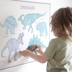 Dinosaurs are always popular. Pic by Poster by us. Dinosaur Posters, Dinosaurs, Vintage Looks, Wall Decals, Popular, Fabric, Instagram, Home Decor, Tejido