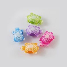 200 Opaque Turtle Craft Beads